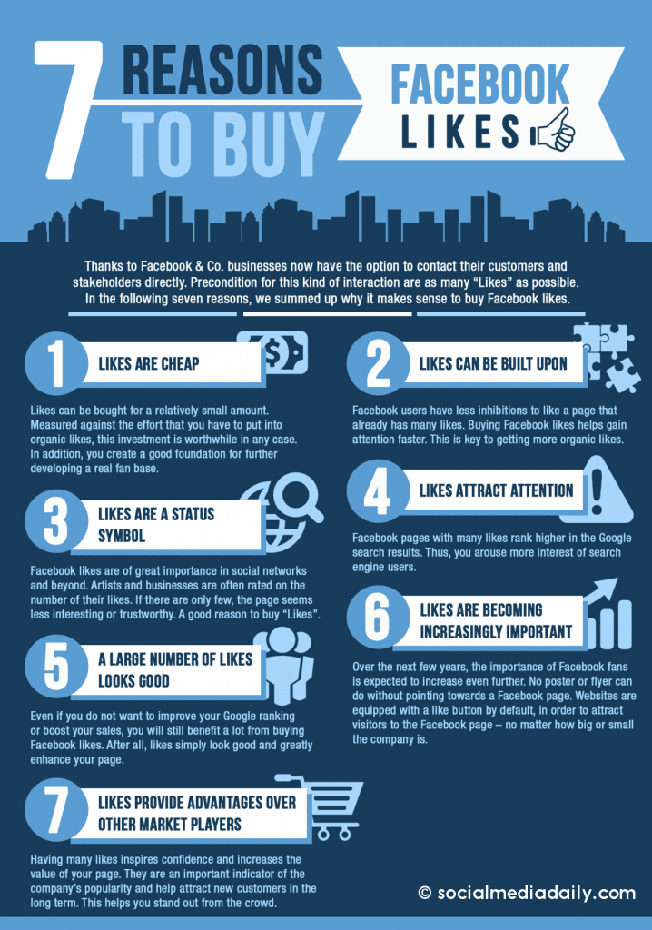 7 reasons to buy Facebook likes