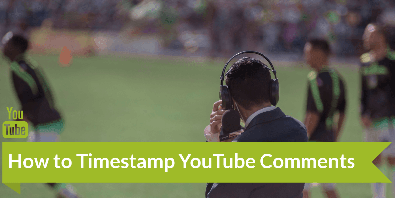 how to timestamp comments on YouTube